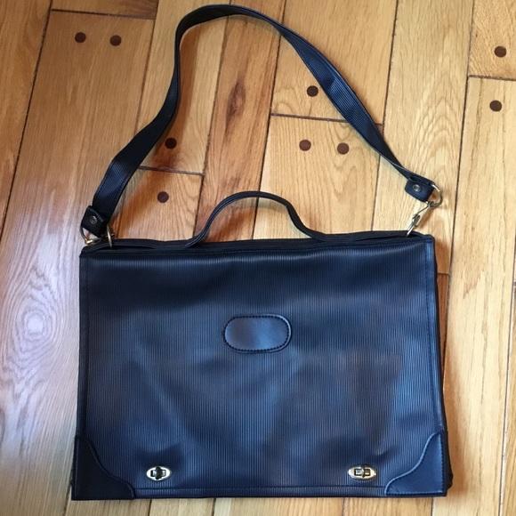 d365716b7eaf Galanos Handbags - Galanos Rubber Black Messenger Bag Briefcase